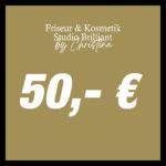 50,- € Geschenkgutschein